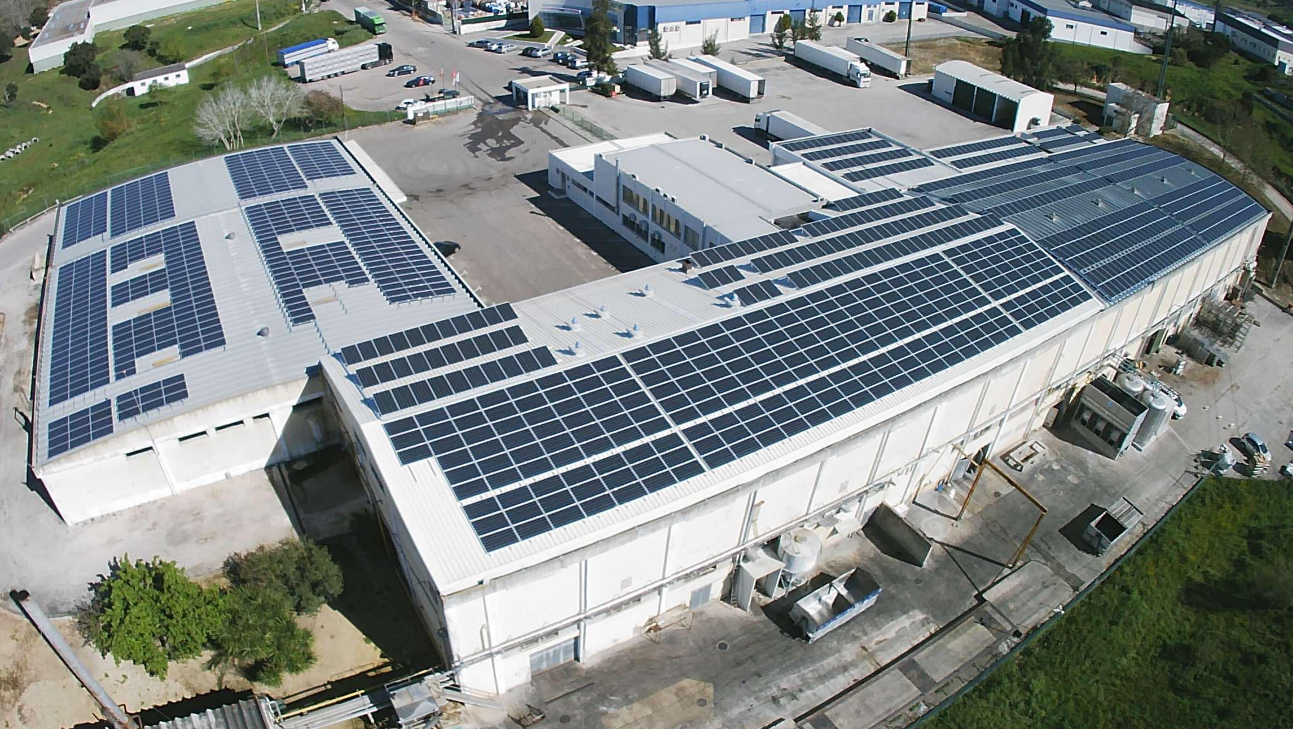 autoconsumo em indústria Santacarnes Santarém Portugal solar fotovoltaico